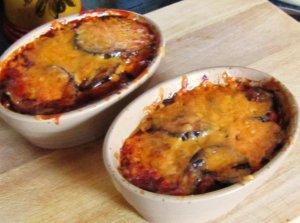 Aubergines au Gratin ~ Cheese Crusted Eggplant Bake