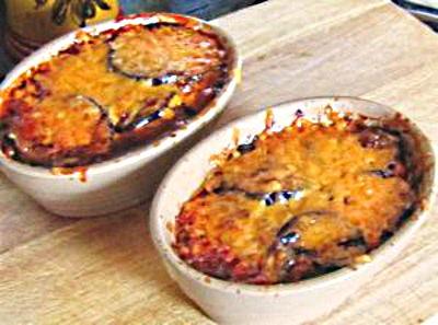 aubergines au gratin