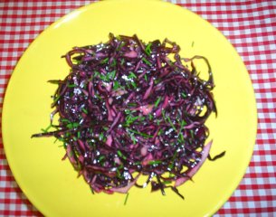 A Red Cabbage Salad to add to your hors d oeuvres or starters