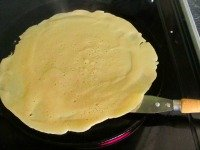 flipping crepes and pancakes